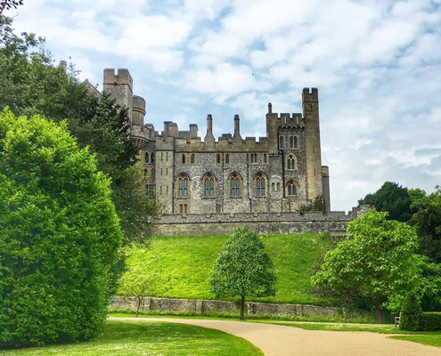 view of arundel castle and some of the grounds