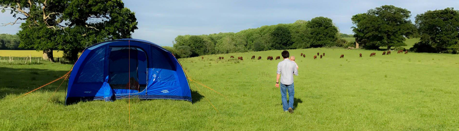 Tent pitch at selden farm camping