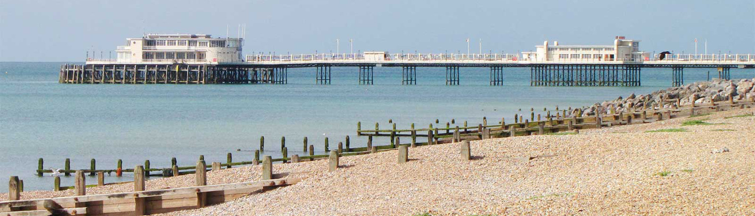 worthing beach with a view of the pier
